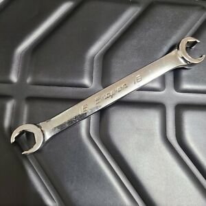 Snap on Tools Usa 16mm 18mm Metric Flare Nut 6pt Line Wrench Rxfms1618