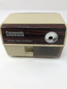 Vintage Panasonic Electric Pencil Sharpener Auto stop 1980 s Kp 110 Tested Works