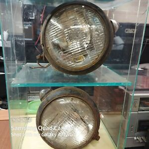 Vintage Pair Of Rat Hot Rod Headlights With Turn Signals