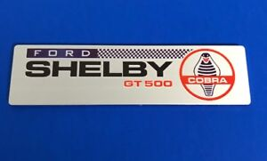 Shelby Gt500 Plaque