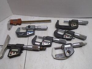 Lot Of Broken Digital Micrometers And Verniers