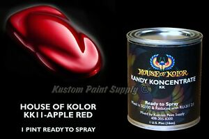 Apple Red Kandy Kk11 House Of Kolor 1 Pint Can Ready To Spray Candy Paint