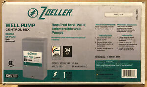 Well Pump Control Box New Zoeller 230v 3 Wire Ground 3 4 Hp