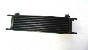Universal Aluminum Black 10 Row 8an Fitting Engine Transmission Oil Cooler
