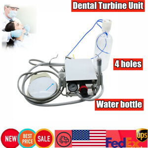 Us Portable Dental Turbine Unit For Air Compressor 4hole Water Bottle Equipment