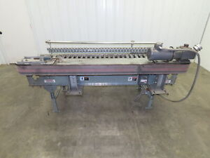 Automotion 7 X 24 power Roller Conveyor V belt Drive W vfd And Box Straightener