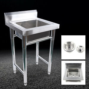 500 500 800mm Stainless Steel Utility Commercial Square Kitchen Wash Sink