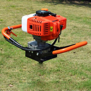 52cc 2 stroke Gas Powered Post Hole Digger Auger Borer Drill Machine 8500rpm
