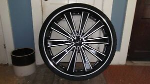 Rolling Big 30 Inch Rims And Tires brand New They Look Awesome Don t Wait