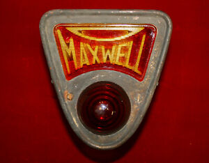 1920 S Original Early Vintage Maxwell Car Auto Tail Tag Stop Light Antique