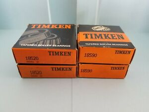 Brand New 1 Set Timken 18520 18590 Cup Cone Tapered Roller Bearing Set