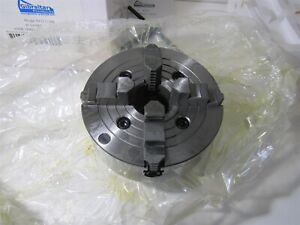 New 8 4 Jaw Independent Lathe Chuck L 0 Mount Spindle 2 2047 Through Hole