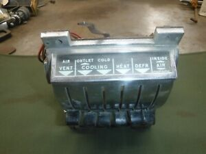1957 Chevrolet Belair Nomad Heater Control With Air Conditioning Used Oem