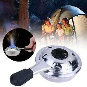 Stainless Steel Mini Portable Outdoor Alcohol Stove Spirit Burner For Camping