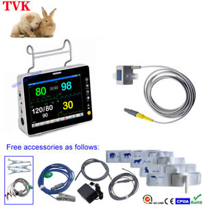 8 Lcd Multi functional Portable Veterinary Icu Patient Monitor With 6 Parameter