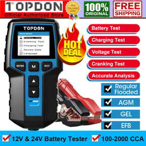 Car Truck Battery Tester 12v 24v Load Charging Cranking Test Alternator Analyzer