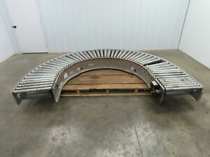 Automotion Vb1 455 180 Curve 24 Power Roller Bed Conveyor V belt Drive
