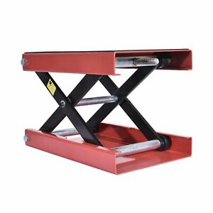 Red Motorcycle Scissor Lift Jack Workbench Dirt Atv Center Stand Table 1100lbs