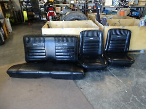 1966 Ford Mustang Coup Oem Original Front Rear Seats Black Pony Edition