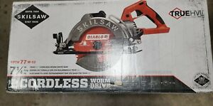 Skilsaw Spth77m 02 7 1 4 Truehvl 48v Worm Drive Saw W Diablo Blade New In Box