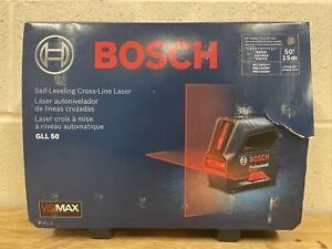 Bosch Gll50 50 Ft Self leveling Cross line Laser Level New Free Shipping