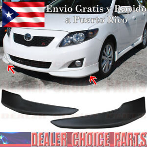 For 2009 2010 Toyota Corolla Front Bumper Body Kit Lower Lip Chins S Style 2pcs