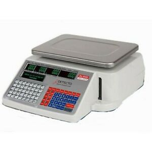 Detecto Dl1060 Label Printing Scale New 60lb set Up includes Pc Software