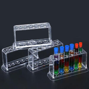 Plastic Clear Test Tube Rack 6 Holes Stand Lab Test Tube Stand Shelf M1