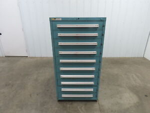 Stanley Vidmar 10 Drawer Industrial Tooling Cabinet 30x29x60 Latching Drawers