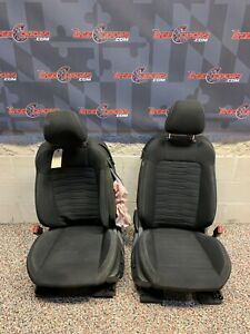 2015 Ford Mustang Gt Oem Black Cloth Front Seats Damaged