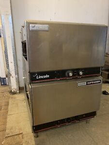 Lincoln Impinger 1301 Double Stack Conveyor Pizza Ovens used 1900 For Each Oven