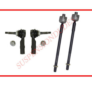 4pc Inner Outer Tie Rod Ends Fits 2010 2015 Chevrolet Camaro