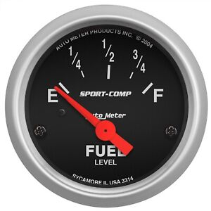 Autometer 3314 Sport comp Electric Fuel Level Gauge