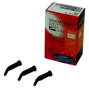 Gradia Direct Light cured Microfilled Hybrid Composite Resin A1 a2 20 Unitips