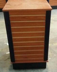 Store Display Fixtures 10 Slatwall Units On Rollers 4 Sided
