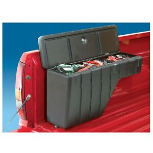 Vdp 31300 Black Wheel Well Drainable Cargo Storage Unit For Mid Compact Trucks