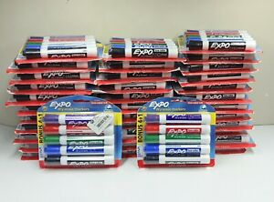 Lot Of 35 Expo Dry Erase Markers Low Odor Ink All New