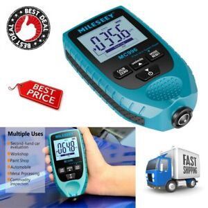 Mileseey Digital Coating Thickness Gauge Meter Paint Thickness Meter With Units