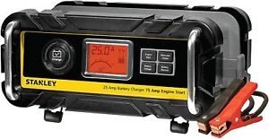 Stanley 25 Amp Battery Charger High Frequency Car Truck With 75 Amp Engine Start