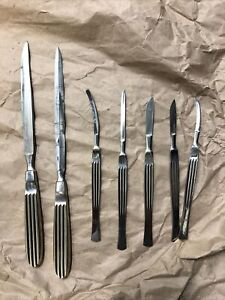 Surgical Knifes Scalpel Antique Vintage Made In Germany