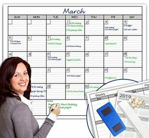 Dry Erase Monthly Large White Board Wall Calendar 38 X 50 Jumbo Laminated