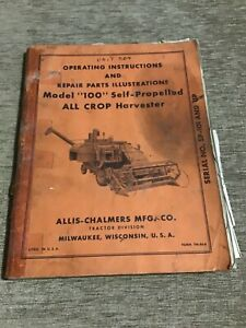 Operating Instructions And Repair Parts All Crop Harvester