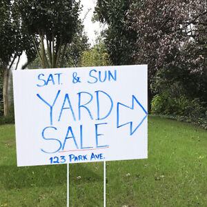 Durable 18in X 26in Blank White Yard Sign Kit 1 3 5 7 10 15 Or 20 W H Frame