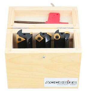 Accusize Industrial Tools 3 Pc Little Hogger End Mill Set 45 Deg 90 Deg And 3