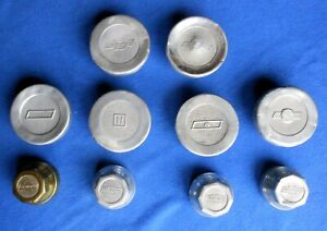 Ten 10 1920s Chevrolet Grease Caps Hub Caps Several Designs Replacements