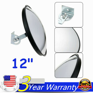 12 Traffic Convex Mirror Wide Angle Safety Mirror Driveway Outdoor Security Usa