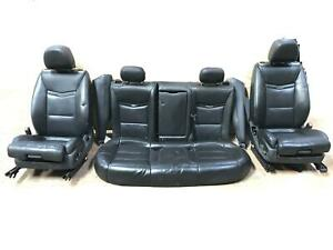 13 17 Cadillac Xts Front Rear Black Leather Seats Full Set W Tv s Oem Seat