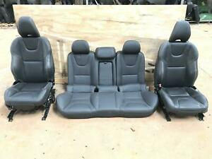 15 18 Volvo S60 Front Rear Black Leather Seats Set Oem