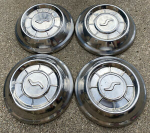 Studebaker Hubcaps Wheelcovers Center Caps1960 s 10 Vintage 4pcs