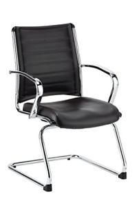 Eurotech Seating Europa Leather Guest Chair Black